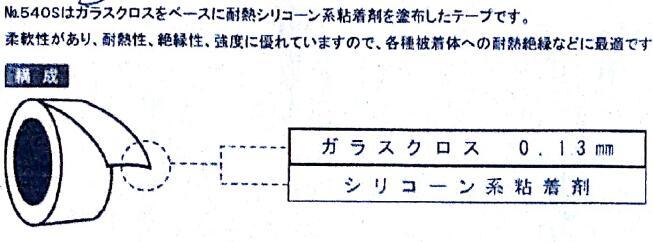 进口寺冈TERAOKA 540S 0.18耐高温绝缘阻燃玻璃布基材粘合胶带