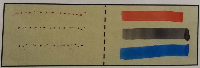 UV硬化防污涂层与一般涂层油性笔粘污测试